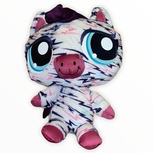 LPS Littlest Pet Shop Hungriest Zebra Plush